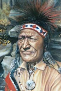 "Chief Matagha. 24"" x 36"" Oil on Canvas. $1,500 (2)"