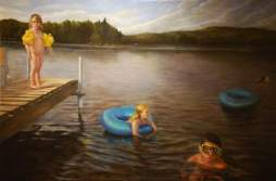 The Lake. 6' x 8' Oil on Panel (In the collection of Sally Jessy Raphael)