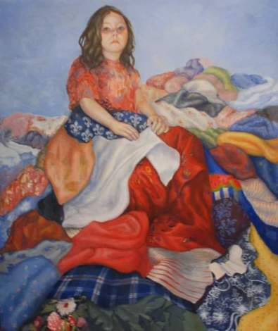 Untitled. 3' x 4' Egg Tempera on Panel. (In the collection of Marney Larson)
