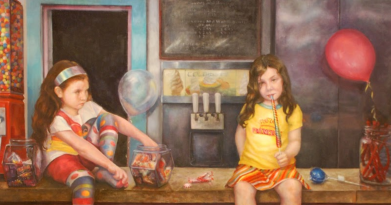 Candy Shop. 4' x 6' Oil on Panel. In the collection of Phyliss Nisbet) (3)