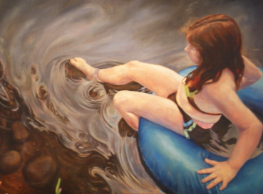 Making Waves. 3' x 4' Oil on Panel (In the collection of Sally Jessy Raphael)